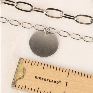 Jewelry - Disc Chain Necklace in Silver or Gold